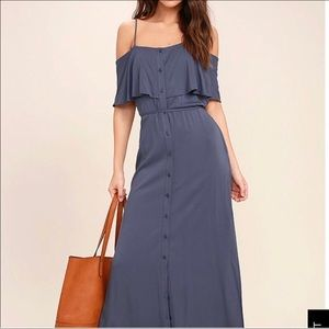 Lulus off shoulder maxi dress